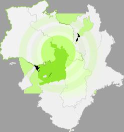 地図 大阪・京都・神戸